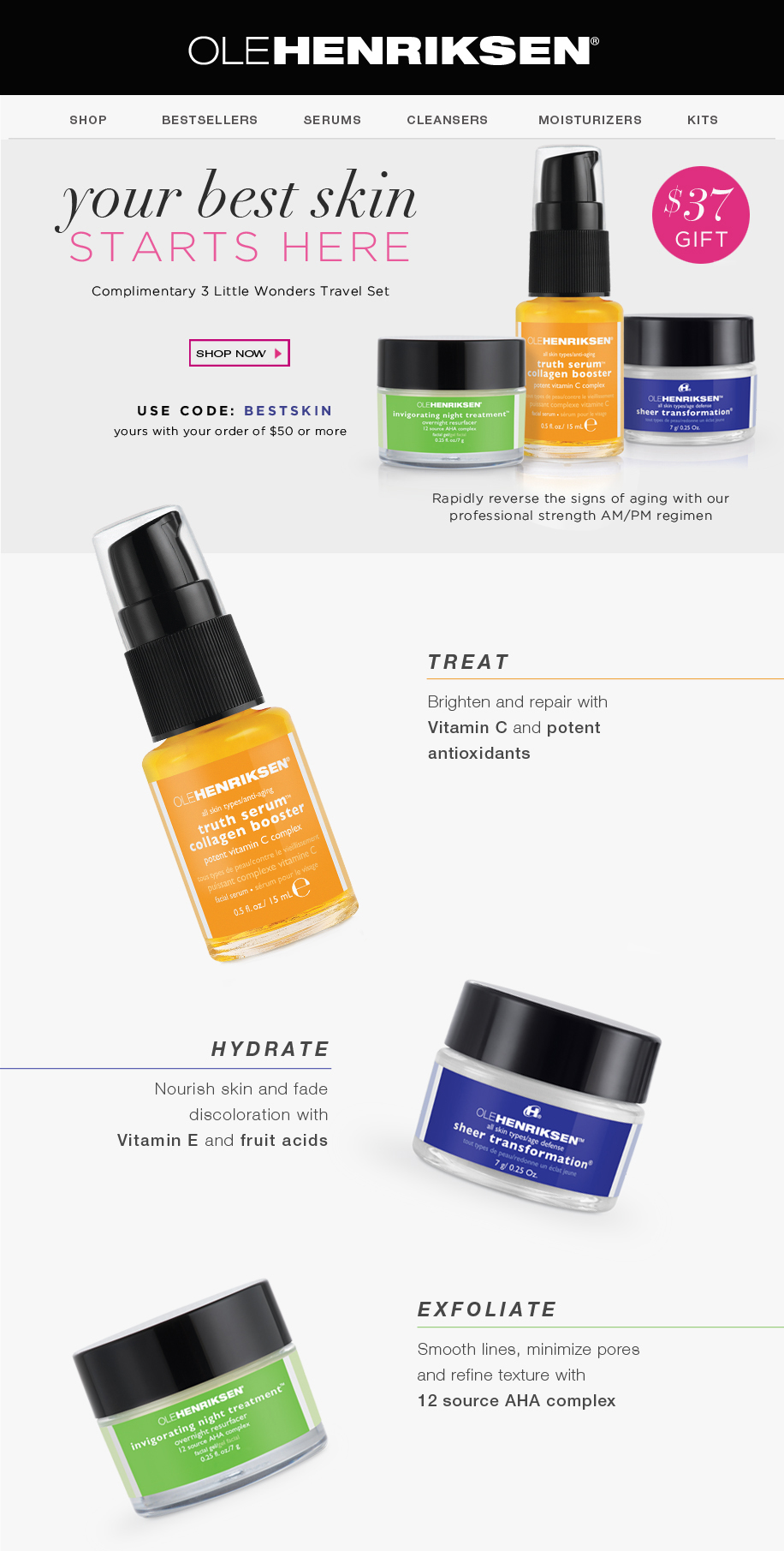 complimentary set offer